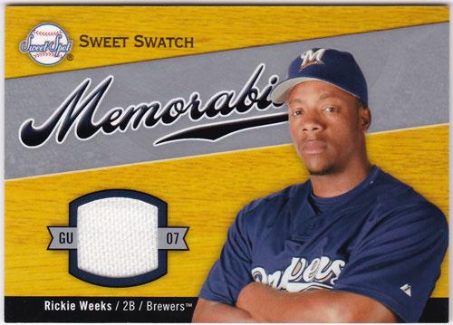リッキー・ウィークス 2007 UD Sweet Spot Sweet Swatch Jersey Rickie Weeks