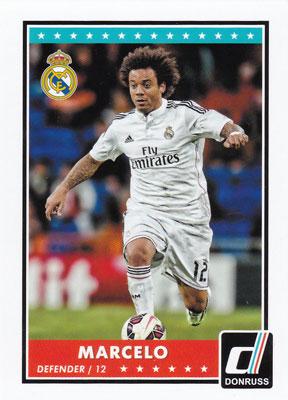 マルセロ 2015 Panini Donruss Soccer Base Card #7 Marcelo
