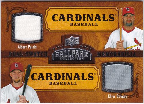 アルバート・プホルス/クリス・ダンカン 2008 UD Ballpark Collection Dual Jersey Albert Pujols/Chris Duncan
