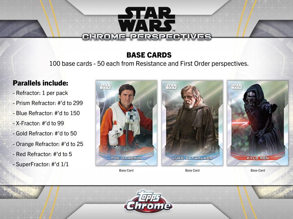 スター・ウォーズ 2020 Topps Star Wars Chrome Perspectives: Resistance vs. The First Order トレーディングカード 8/7入荷