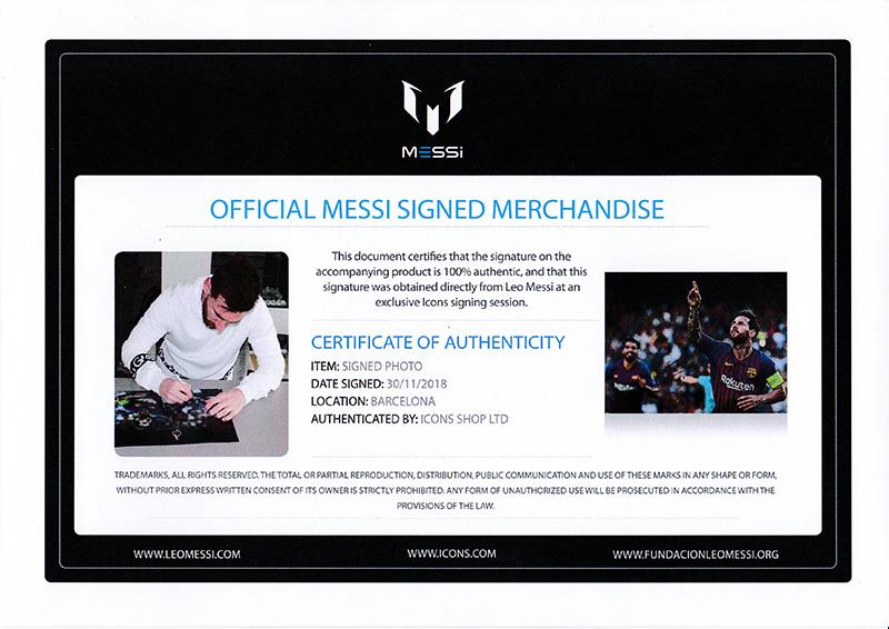 リオネル・メッシ 直筆サインフォト FC バルセロナ UEFA チャンピオンズリーグ ハットトリック vs PSV (Lionel Messi Official Signed Barcelona Photo: UEFA Champions League Hatrick vs PSV)