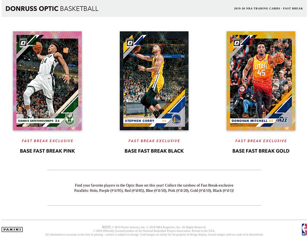 NBA 2019-20 Panini Donruss Optic Basketball Fast Break 2/19入荷!八村塁封入