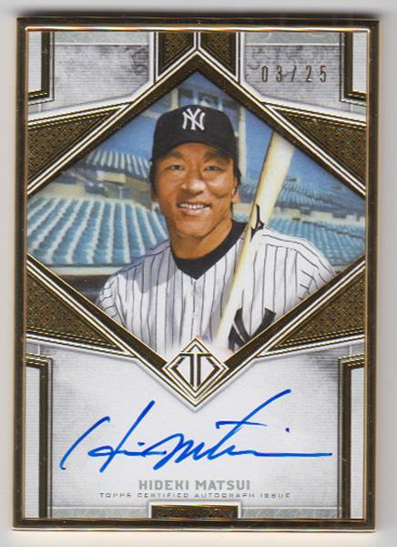 松井秀喜 MLBカード 2019 Topps Transcendent Collection Framed Transcendent Autographs 03/25