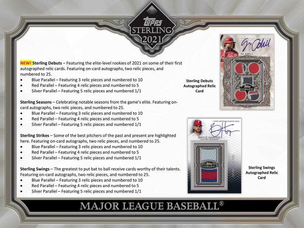 MLB 2021 Topps Sterling Baseball 5/26入荷