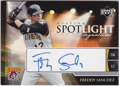 フレディ・サンチェス 2006 UD Ovation Spotlight Signatures Auto Freddy Sanchez