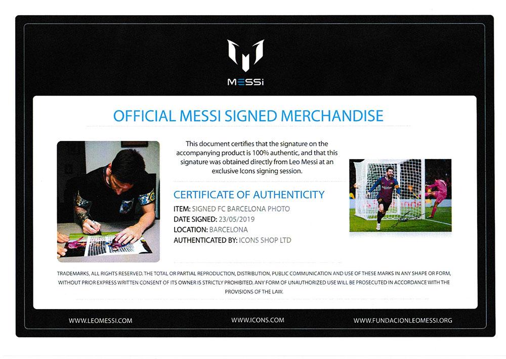 リオネル・メッシ 直筆サインフォト UEFA チャンピオンズリーグ FCバルセロナ vs リバプール (Lionel Messi Official Signed FC Barcelona Photo: UEFA Champions League Brace vs Liverpool)