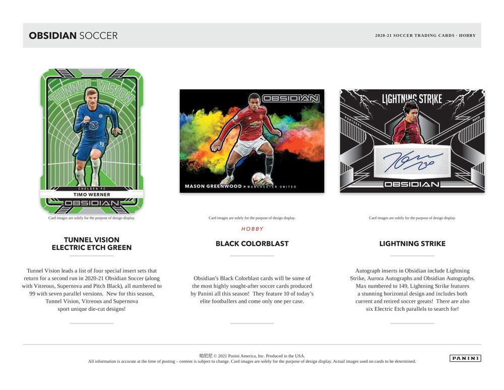 2020-21 Panini Obsidian Soccer 4/17入荷!