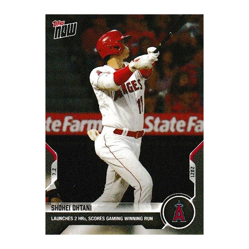 大谷翔平 #452 2ホームラン&サヨナラ勝利記念 カード Launches 2 HRs, Scores Gaming Winning Run Shohei Ohtani - 2021 MLB Topps Now Card 452  7/24入荷