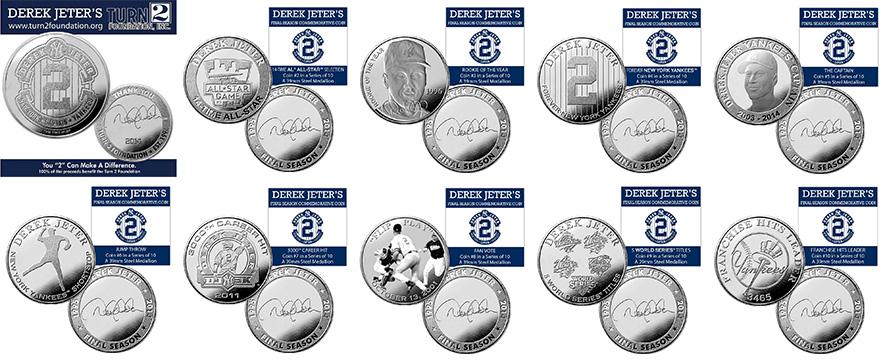 (セール)デレク・ジーター ファイナルシーズンコイン ランダム10個セット (Derek Jeter Final Season Foundation Coin)