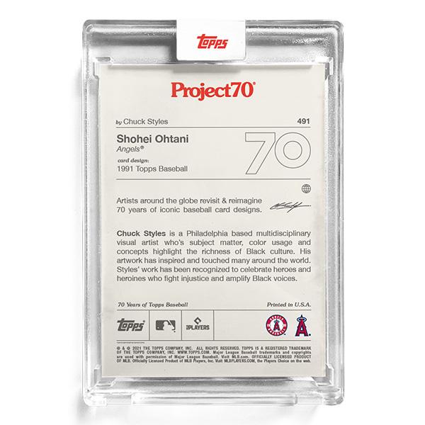 大谷翔平 #491 Topps Project70 Card Shohei Ohtani by Chuck Styles 9/27入荷