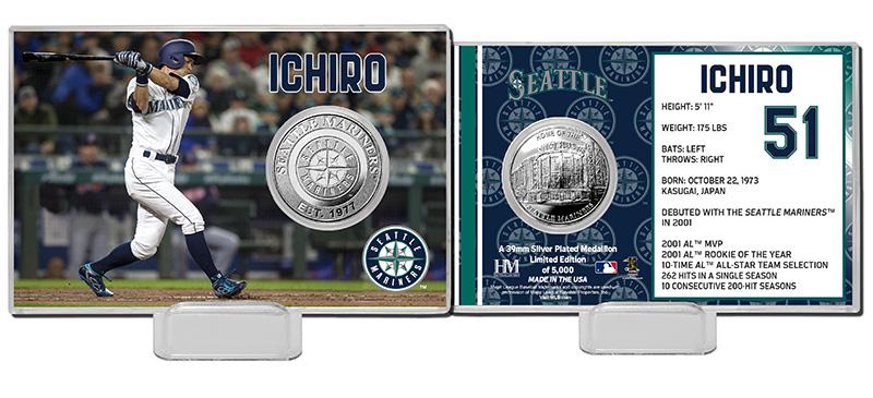 The Highland Mint (ハイランドミント) イチロー シアトル・マリナーズ シルバーコインカード (Ichiro Suzuki Silver Coin Card)