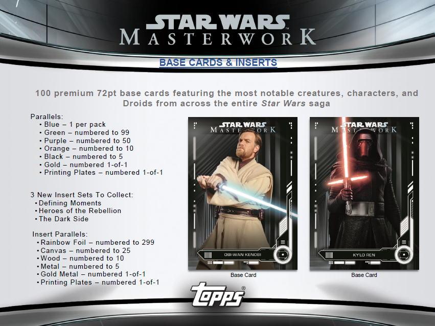 スター・ウォーズ 2019 Topps Star Wars Masterwork トレーディングカード 11/20入荷!