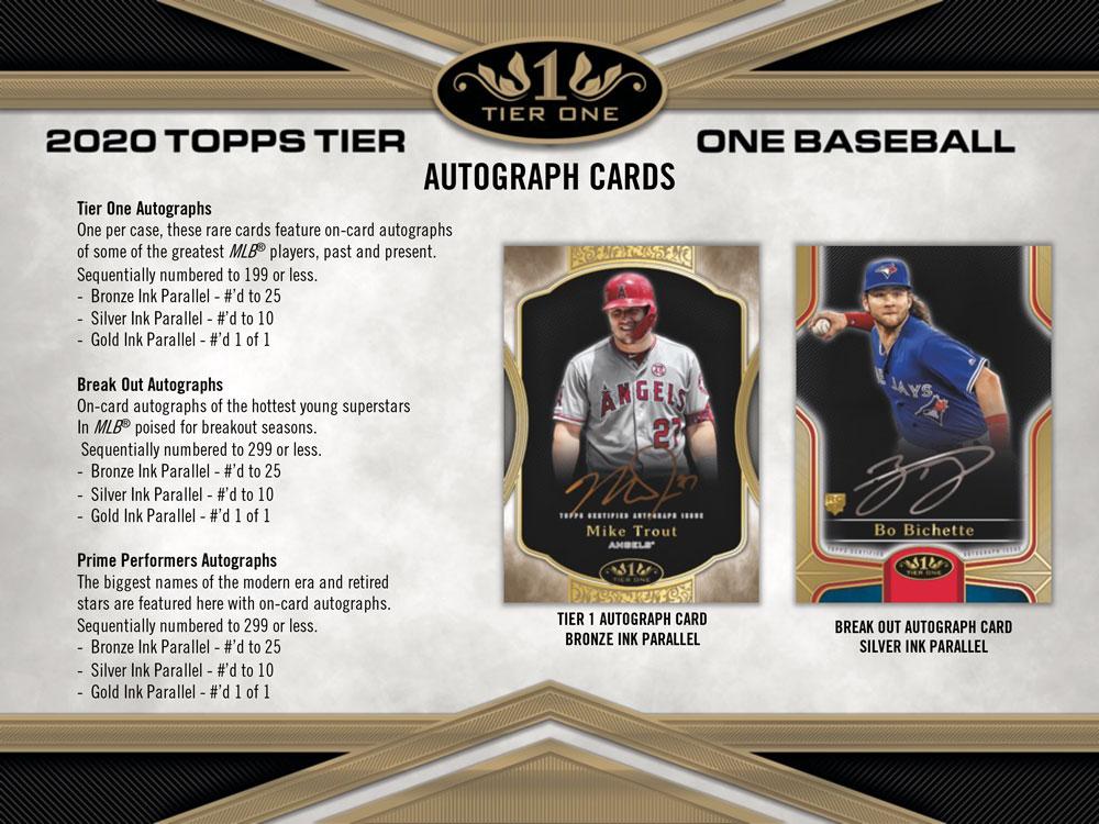 MLB 2020 Topps Tier One Baseball 6/5入荷