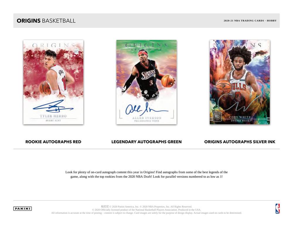 NBA 2020-21 Panini Origins Basketball 4/14入荷