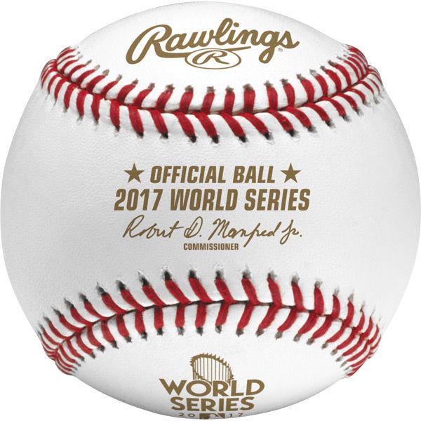 Rawlings社製 MLB 2017 ワールドシリーズ公式球 ケース付き (ボール) ローリングス