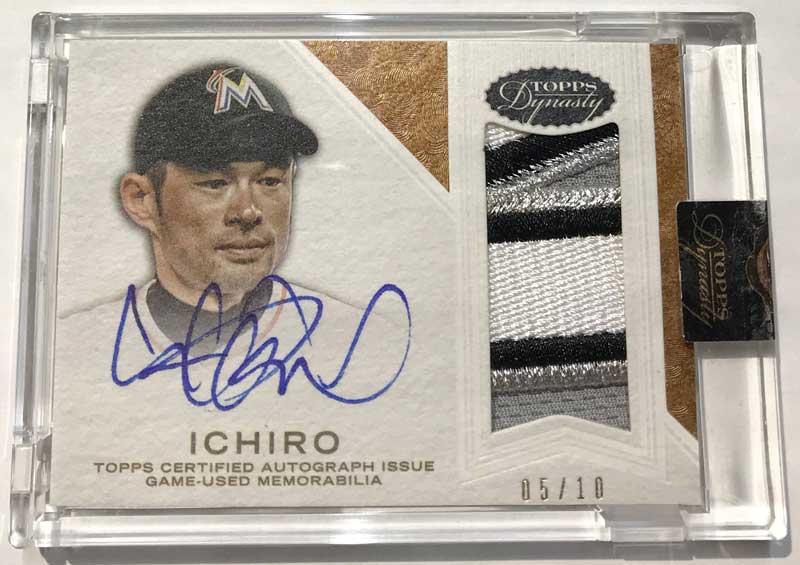 イチロー MLBカード 2016 Topps Dynasty Autographed Patches 05/10 Ichiro Miami Marlins