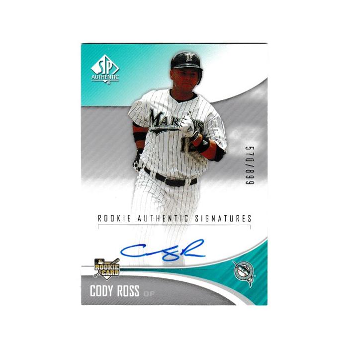 コディ・ロス MLB 2016 SP Authentic  Rookie Authentic Signatures 570/899 Cody Ross