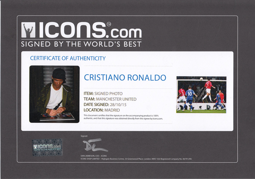 クリスティアーノ・ロナウド 直筆サインフォト - Champions League Final Goal / Christiano Ronaldo