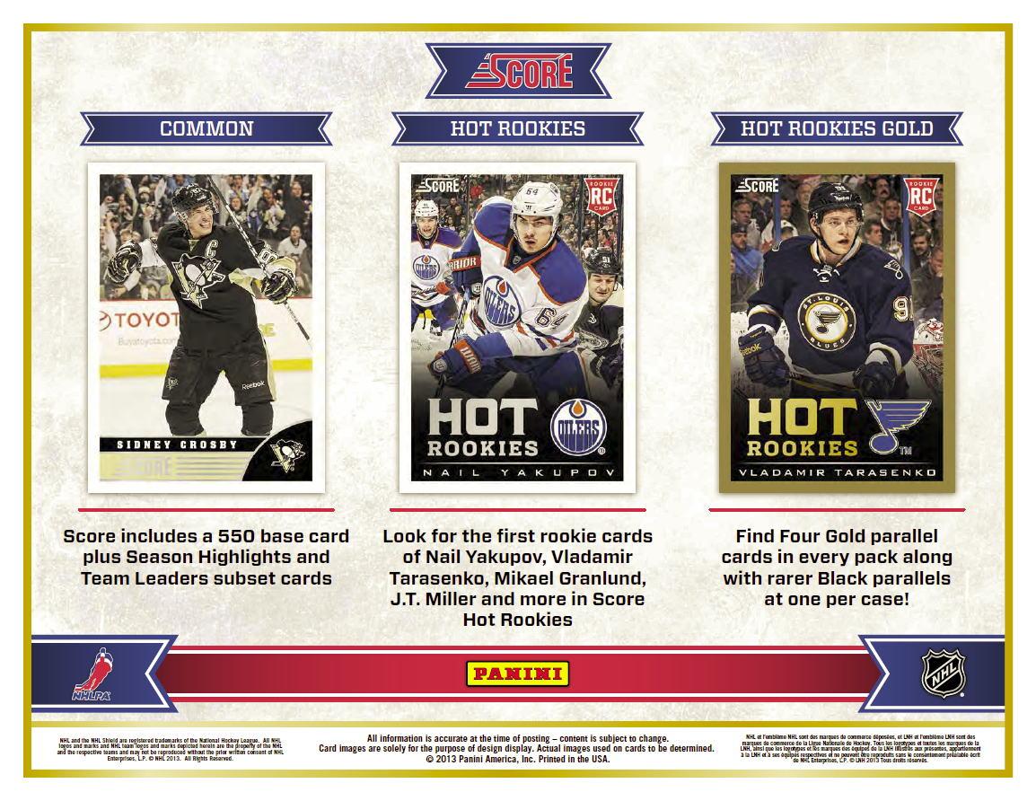 NHL 13/14 Panini Score