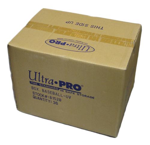 ウルトラプロ (Ultra Pro) UVプロテクト仕様ボールケース 36個入り #81528   Baseball Clear Square UV Holder