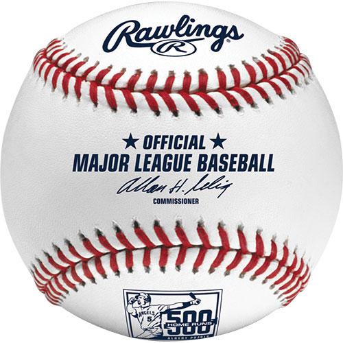 MLBボール ローリングス(Rawlings) アルバート・プホルス 500本塁打記念球 (Albert Pujols 500 Home Runs)