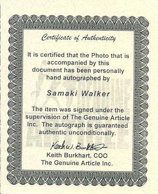 サマキ・ウォーカー 直筆サイン入り8x10フォト (ルイビル大) / Samaki Walker