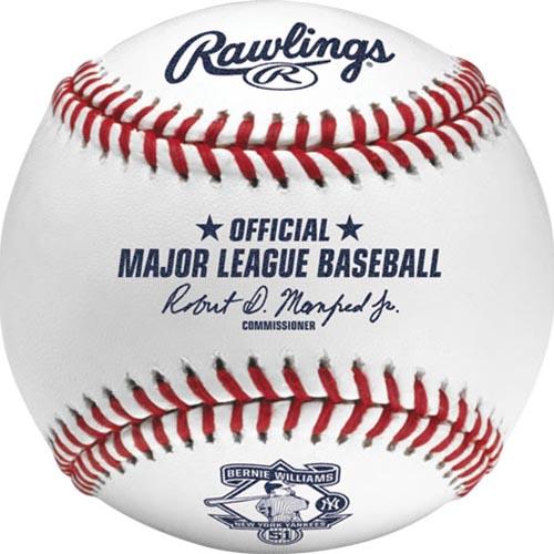 MLB 2015 バーニー・ウィリアムス 引退記念ボール ローリングス (Bernie Williams)