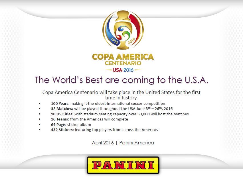 (セール)パニーニ 2016 コパ・アメリカ・センテナリオ ステッカー (2016 PANINI COPA AMERICA CENTENARIO SOCCER STICKER) 6/28入荷!