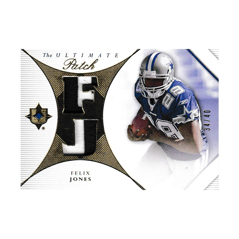 フェリックス・ジョーンズ 2008 UD Ultimate Collection The Ultimate Patch 34/40 Felix Jones