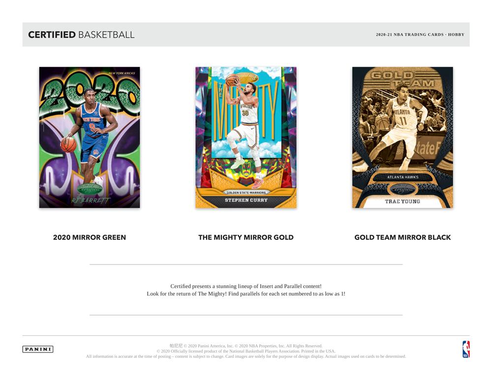 NBA 2020-21 Panini Certified Basketball