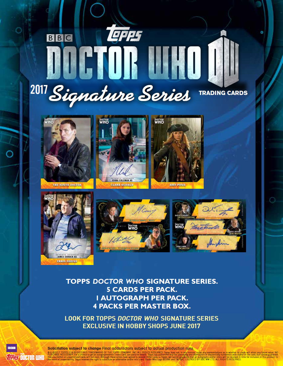 ドクター・フー 2017 Topps Doctor Who Signature Series トレーディングカード ボックス(Box) 6/21入荷!