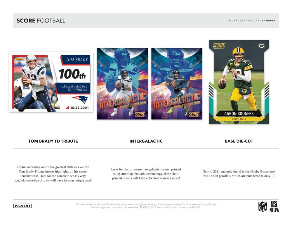 NFL 2021 Panini Score Football 5/12入荷!