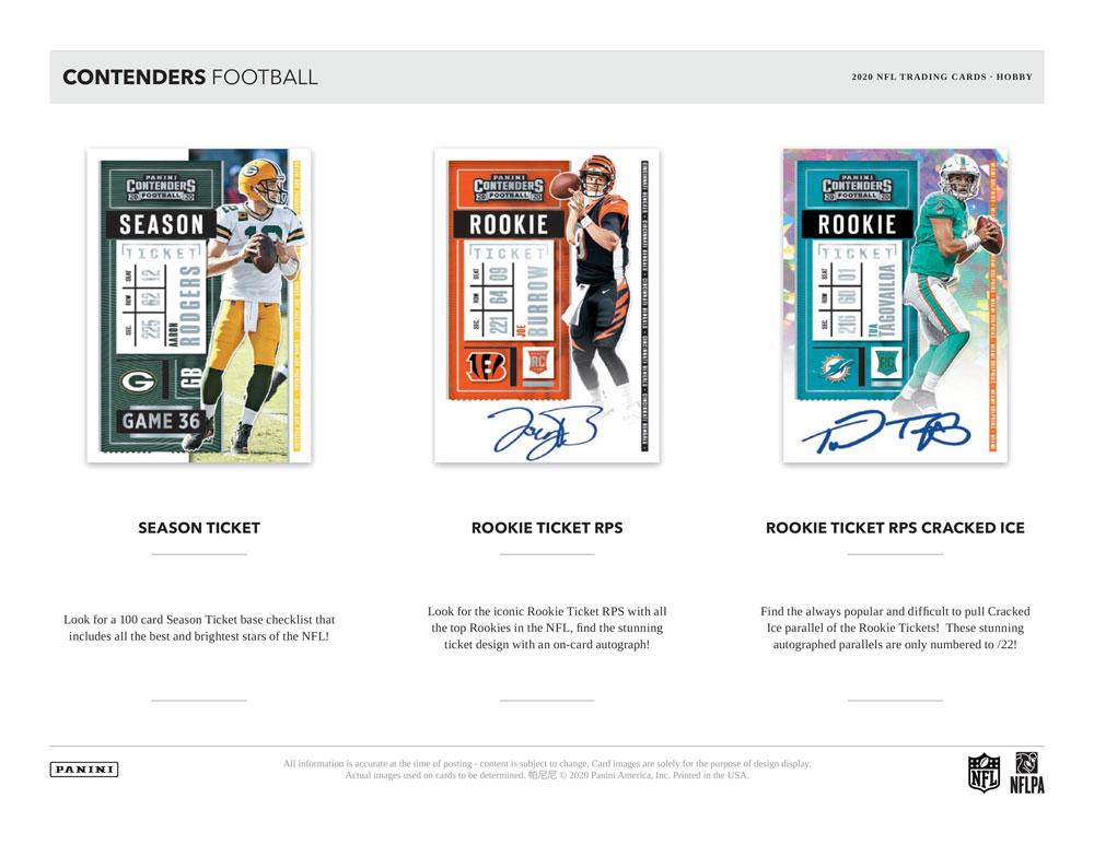 NFL 2020 Panini Contenders Football 2021年、1/22入荷!
