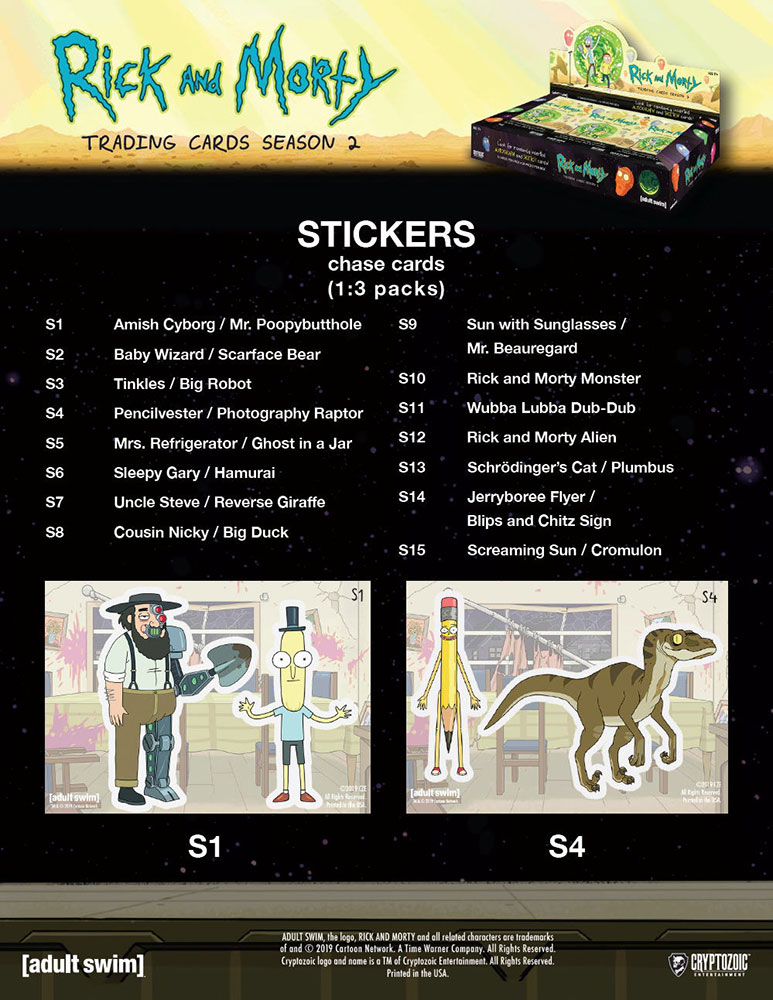 リック・アンド・モーティ 2019 Cryptozoic Rick and Morty Trading Cards Season 2、4/19入荷!