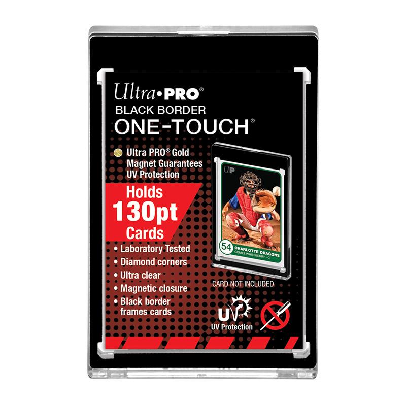 ウルトラプロ (Ultra Pro) 130PT 黒枠 UVワンタッチマグネットホルダー 3.5mm厚 #85917   130PT Black Frame UV One Touch Magnetic Holder