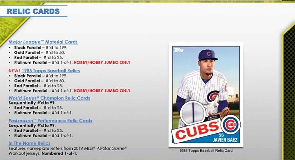MLB 2020 Topps Baseball Series 1 Jumbo 2/5入荷!