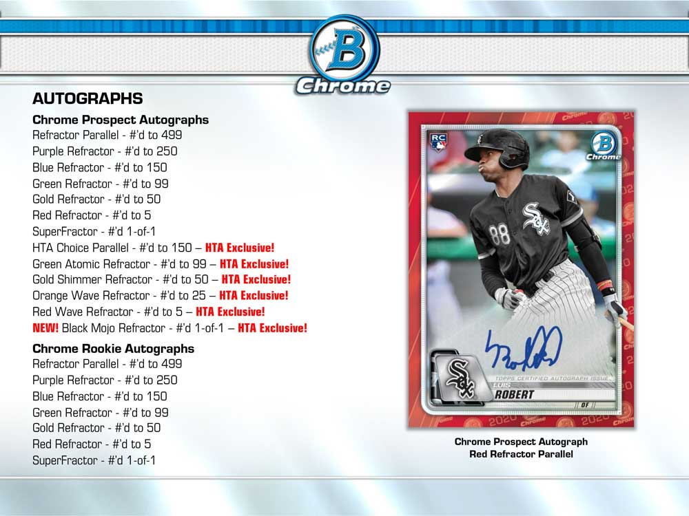 (好評発売中!) MLB 2020 Bowman Chrome Baseball Jumbo 9/18入荷!