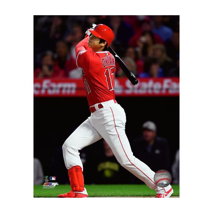 大谷翔平 MLB初ホームラン 8x10 フォト 2018/4/3 ロサンゼルス・エンゼルス フォトファイル