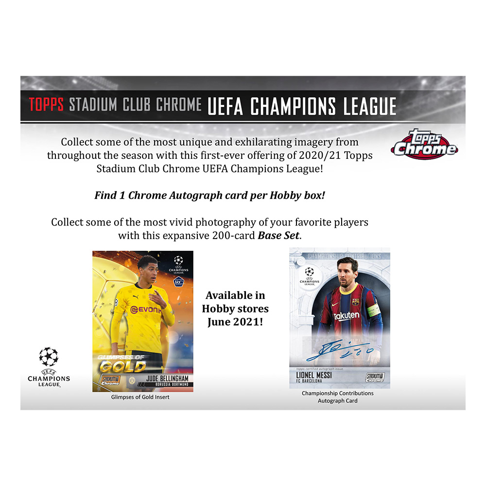 サッカー 2021 Topps Stadium Club Chrome UEFA Champions League Soccer  8/13入荷!