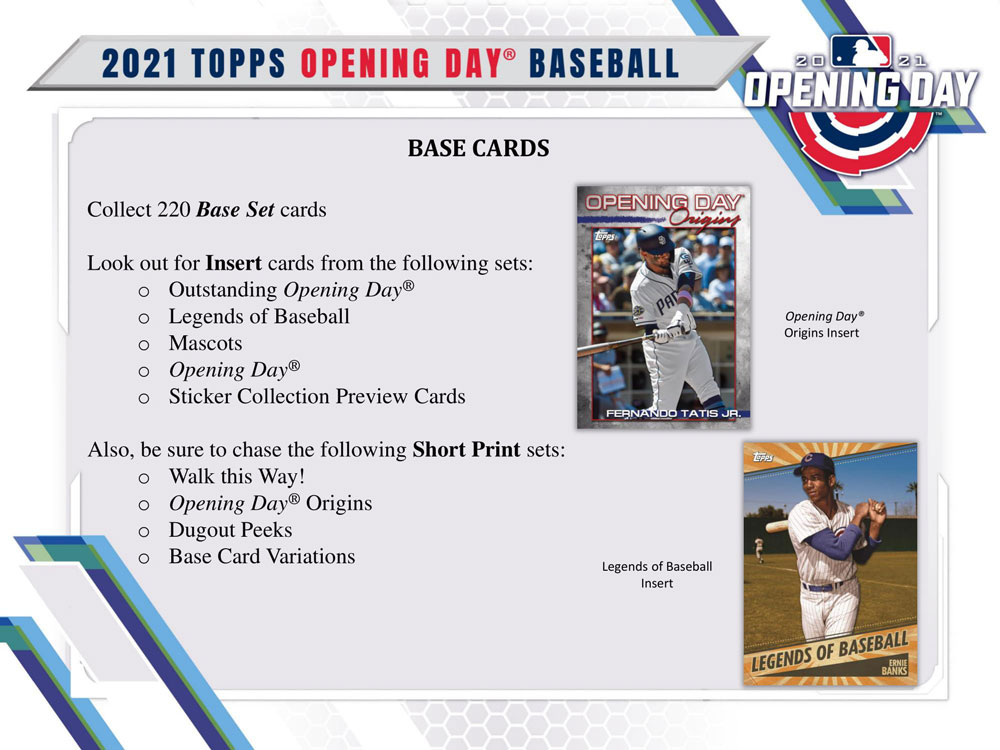 MLB 2021 Topps Opening Day Baseball 3/24入荷!