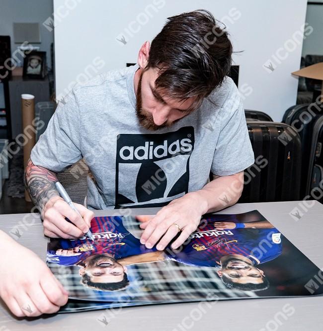 リオネル・メッシ&ルイス・スアレス 直筆サインフォト FC バルセロナ デッドリー・デュオ (Lionel Messi & Luis Suarez Signed FC Barcelona Photo: Deadly Duo)
