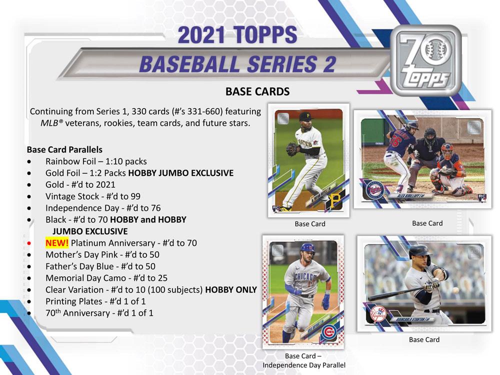MLB 2021 Topps Baseball Series 2 Hobby 6/9入荷!