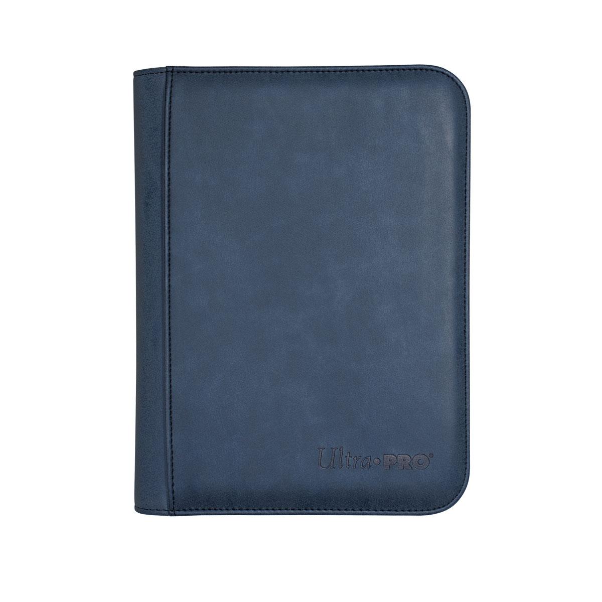 ウルトラプロ (Ultra Pro) スエードコレクション ジッパード4ポケット プレミアム プロ バインダー サファイア #15426 | Suede Collection Zippered 4-Pocket Premium PRO-Binder - Sapphire