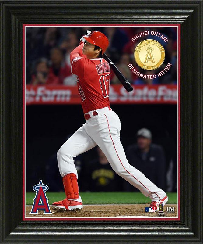 "The Highland Mint (ハイランドミント) 大谷翔平 ロサンゼルス・エンゼルス ""指名打者"" MVP ブロンズコインフォトプラーク (Shohei Ohtani ""Designated Hitter"" MVP Bronze Coin Photo Mint)"
