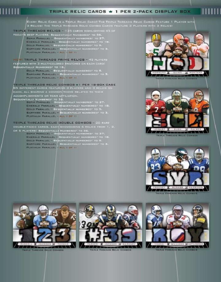 NFL 2007 Topps Triple Threads Pack