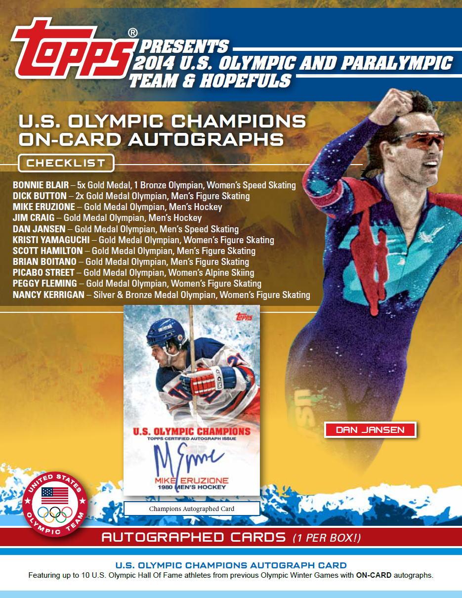 2014年ソチオリンピック&パラリンピック・アメリカ代表チームと出場予定選手を封入: 2014 Topps U.S. Olympic and Paralympic Team & Hopefuls パック (Pack) ★11/22入荷!