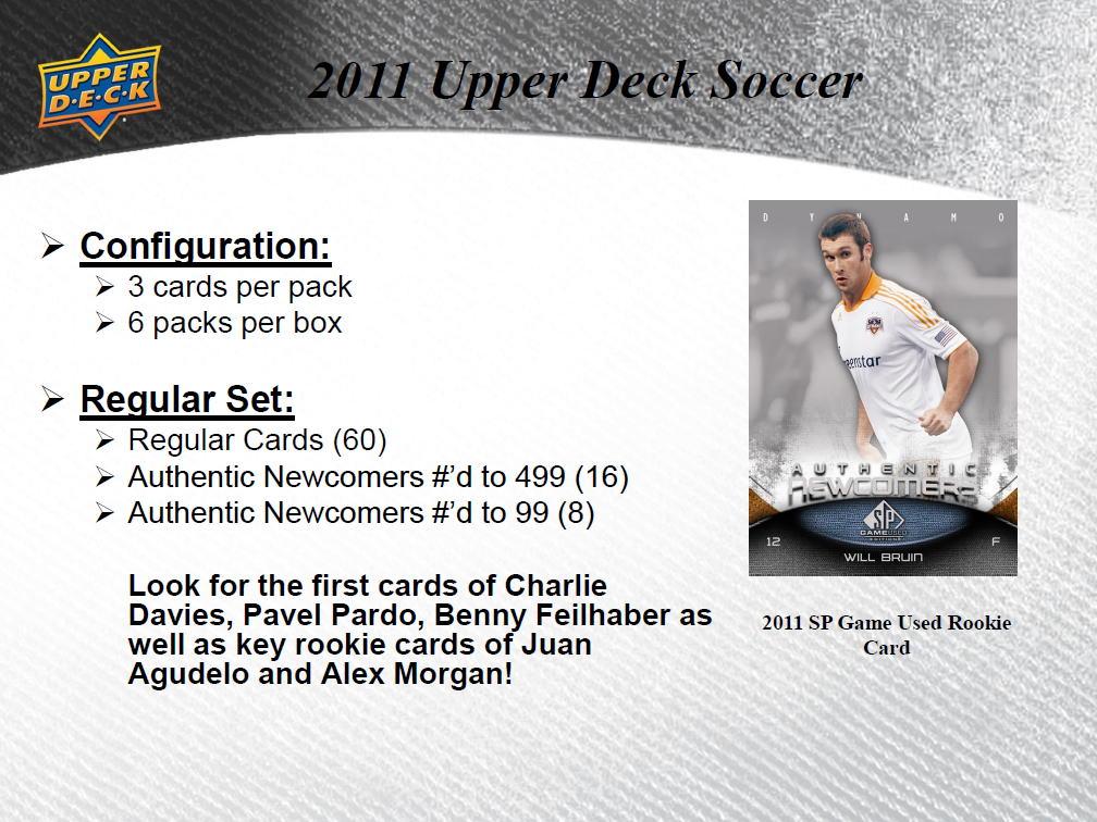 サッカー 2011 UD SP Game Used Soccer