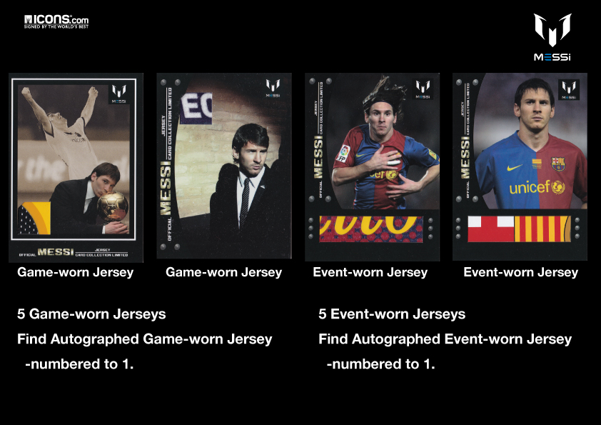 Icons Official Messi Card Collection Limited  / リオネル・メッシ オフィシャルトレーディングカード