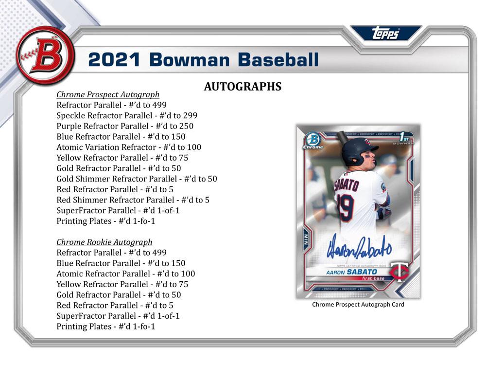 MLB 2021 Bowman Baseball Jumbo 2021年、4/28入荷!