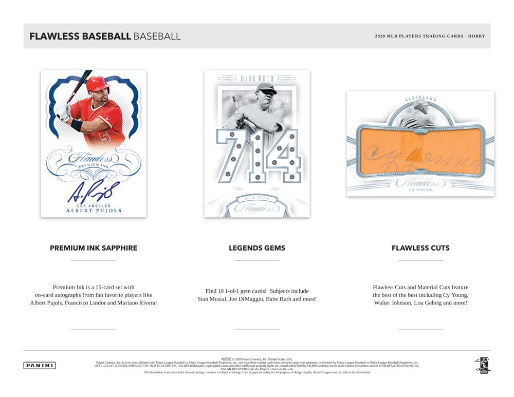MLB 2020 Panini Flawless Baseball 12/4入荷!
